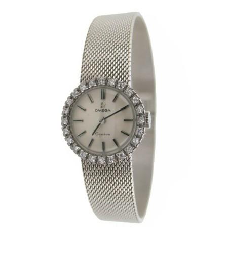 Reloj joya omega con diamantes