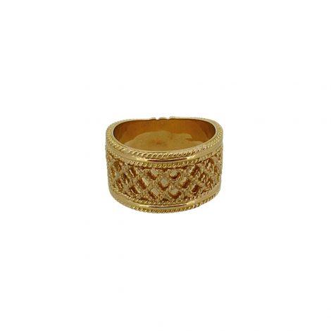 Sortija oro colección MALPICA de Yanes