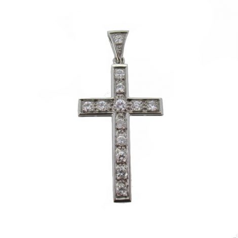 Cruz con diamantes