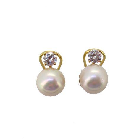 Pendientes perlas y diamantes